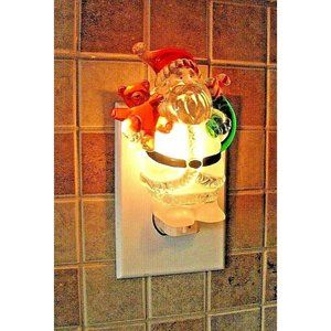 Plug in Night Light Ice Sculptures Santa Holiday